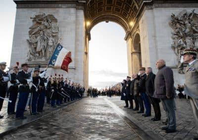 Dépot de gerbe aux Morts de la Gendarmerie 17 fevrier 2020