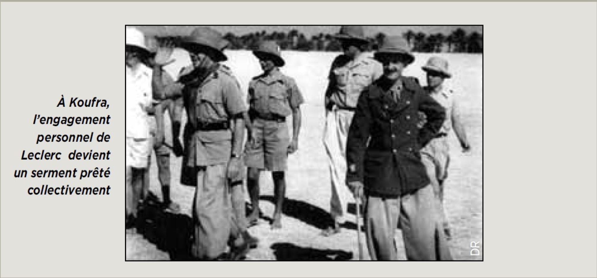 engagement personnel de Leclerc a Koufra