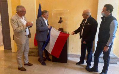 Inauguration de la statue des Sentinelles de la Nation – Mairie d'Alès le 12 juillet 2021